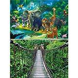 GREAT ART 2er Set XXL Poster – Tiere des Urwalds –