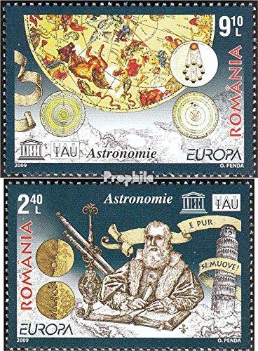 Prophila Collection Rumänien 6357-6358 (kompl.Ausg.) 2009 €uropa - Astronomie (Briefmarken für Sammler) Weltraum