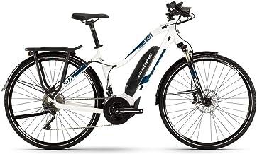 Haibike Sduro Trekking 4.0 2019 - Bicicleta eléctrica para mujer, color blanco y azul