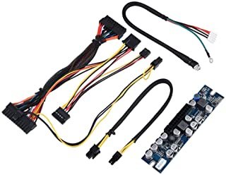 PC PSU DC Power Supply Module, 12V Input 300W Computer Power Supply Module with 24Pin Connect/AUX/SATA Cable, Computer Com...