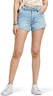 سروال جينز حريمي من قماش الدنيم المطاطي بخصر مرتفع من Wrangler