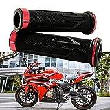 7/8' Puño de Motocicleta Manillar, Moto Manillar Aluminio para CBR Shadow Ninja GSXR YZF (Rojo)