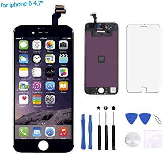 Cisco MicroelectronicFor iPhone 6 Screen Replacement - LCD Display Touch Screen Digitizer Frame Assembly Full Set with Free Tools for iPhone6 4.7 inch(Black)