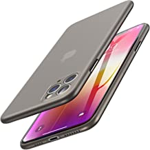 TOZO for iPhone 11 Pro Max Case 6.5 Inch(2019), Ultra Thin Hard Cover [0.35mm] World's Thinnest Protect Bumper Slim Fit Shell [ Semi-Transparent ] Lightweight with [Matte Finish Black]