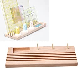 Quilting Wooden Ruler Rack with Spool Holder and Space to Store Pins Tacks Bobbins by LNKA