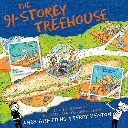 The 91-Storey Treehouse audiobook cover art