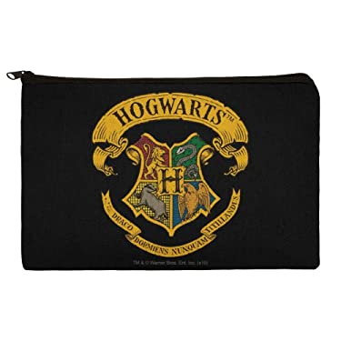 Harry Potter Ilustrated Hogwart's Crest Makeup Cosmetic Bag Organizer Pouch