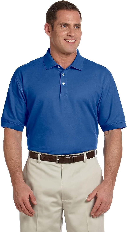 Devon & Jones Men's Tall Pima Pique Polo Shirt, TRUE ROYAL, XX-Large Tall