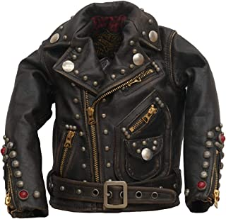 (ダブルアールエル)RRL 世界限定100着 リミテッドエディション ミニ レザー ライダース ジャケット Limited Edition Mini Leather Jacket 並行輸入品 [並行輸入品]