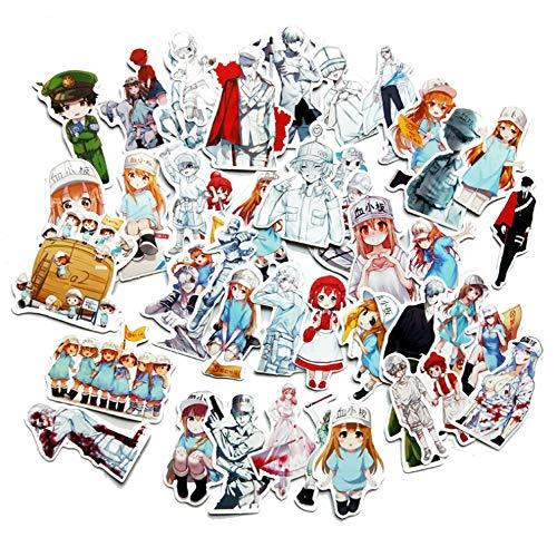 QIANGWEI Stickers 42 stuks waterdichte stickers voor laptop, motorfiets, bagage, snowboard, koelkast, telefoon en auto