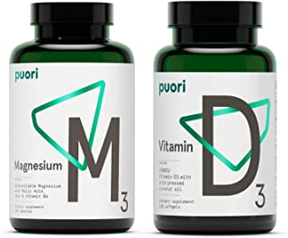 Puori Vitamin D3 and Magnesium Zinc Supplement Bundle