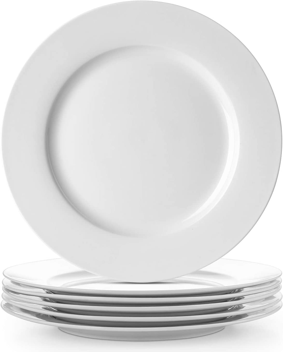 Surprise price DOWAN Porcelain White Tampa Mall Dinner Plates Set Se Salad - Round Dessert