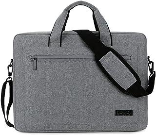 JJJJD Business Office Tablet Briefcase Handbag 14/15 Inch Laptop Polyester Slim Shoulder Bag (Color : Gray, Size : 14 in)