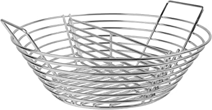 Lump Charcoal Fire Basket with Divider Big Green Egg Accessories,Stainless Steel Grill Ash Baskets for The Large Big Green Egg,Kamado Joe Classic