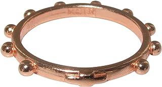 Fedina rosario in argento con bagno in oro rosa mm 16