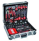 usag 002 jm - valigia con assortimento per manutenzione con 181 pezzi, grigio, 46 x 37 x15.5 cm