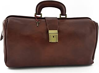 Borsa Per Dottore In Pelle Vera, 1 Scomparto Colore Marrone - Pelletteria Toscana Made In Italy - Business