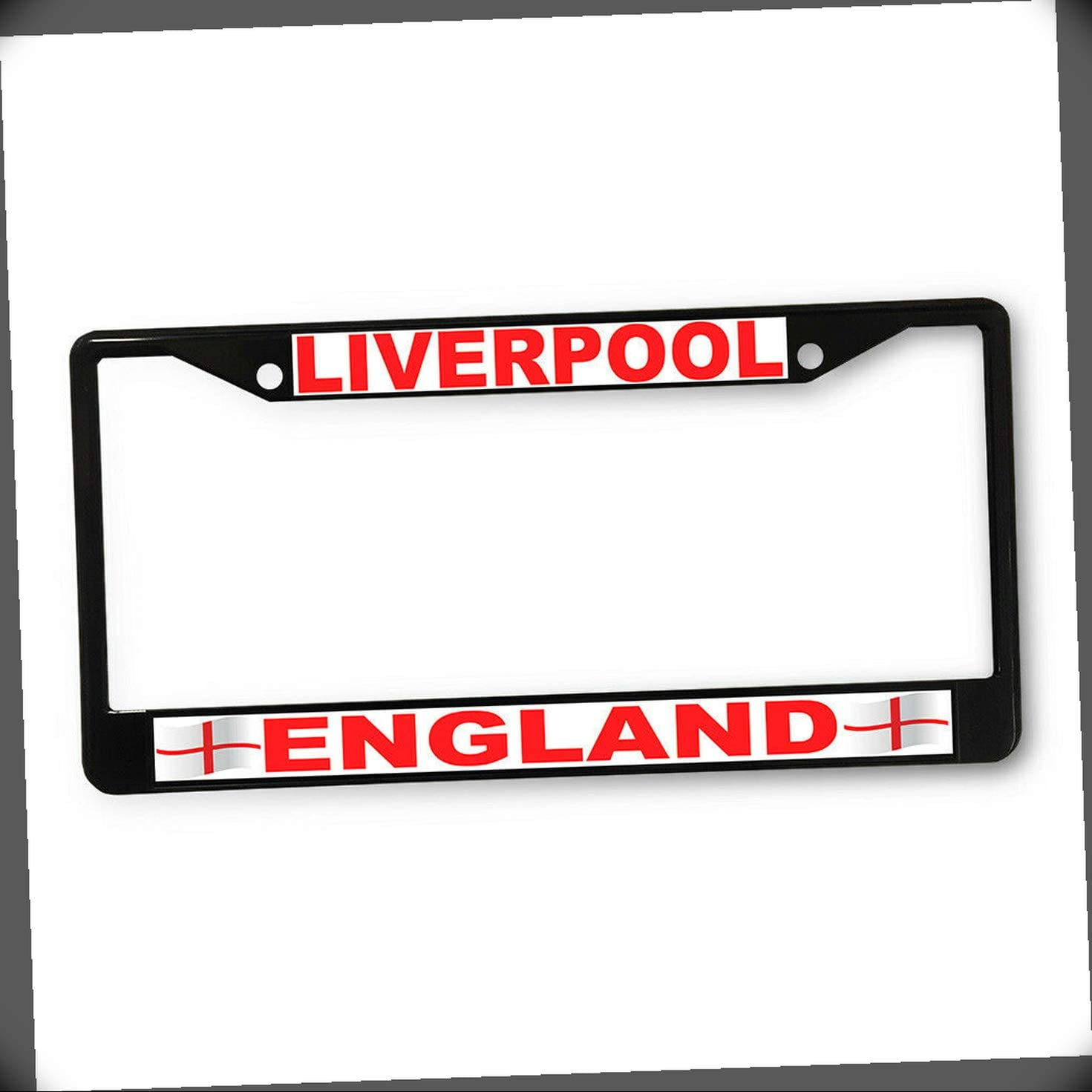 New License Plate Department store Frame Liverpool Travel Cheap sale Places England E Flag