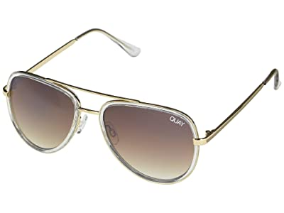 QUAY AUSTRALIA All in Mini (Clear/Brown Flash) Fashion Sunglasses