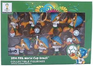 FIFA 856 Set de 8 Figurines 3-D Collector Fuleco Coupe du Monde Football Brésil 2014 7 cm