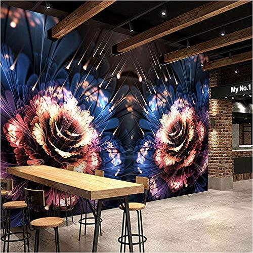 3D-wandbehang met cartoon-patroon, kleurrijk huis, muurschildering, kinderkamer, woonkamer, wandschildering, 3D-wandbehang 450x300 cm