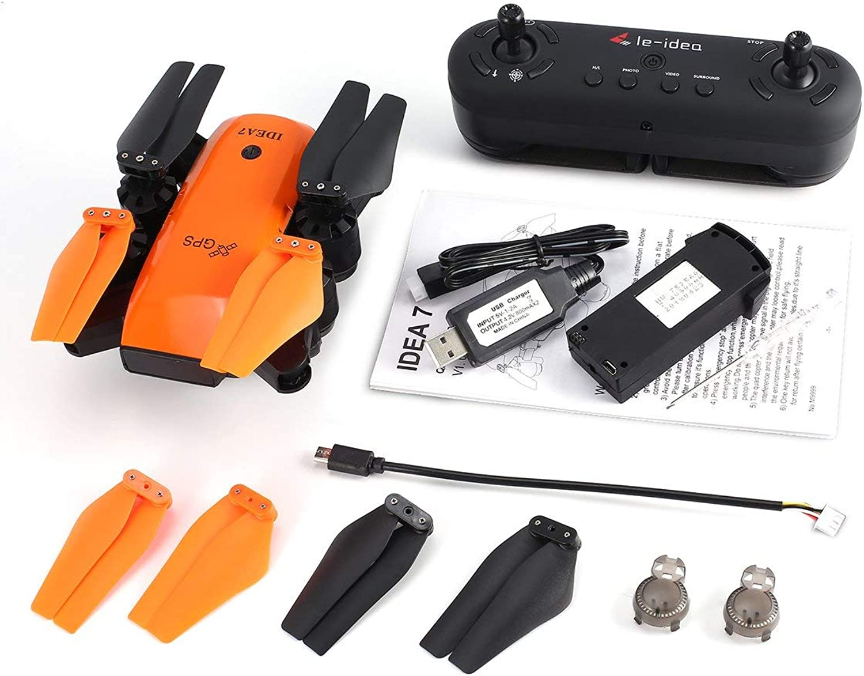 Ahorre 60% de descuento y envío rápido a todo el mundo. Heaviesk para Le-Idea IDEA7 2.4G 2.4G 2.4G RC Drone Quadcopter Plegable con 720P Gran Angular WiFi cámara GPS Altitud Mantener sin Cabeza Una tecla Volver  ventas directas de fábrica