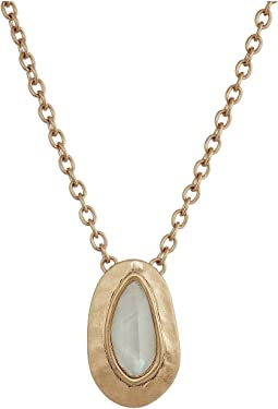 The Sak Medium Stone Pendant Necklace 18""