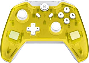 JFUNE Mando Inalámbrico para Nintendo Switch, Switch Pro Controlador Wireless Switch Gamepad, 6-Axis Gyro Dual Motor Switch Controller- Nueva versión 2019 (Amarillo)