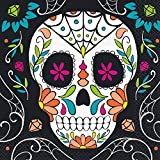 Unique Party 77062 - Calavera Día de los Muertos Halloween Servilletas, Paquete de 20