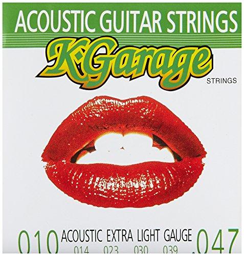 『K-GARAGE アコギ弦 A/G 010-047 エクストラライトゲージ 6SET PACK』の2枚目の画像