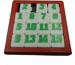 unbrand Puzzle Game Fifteen 15 Number Slide Jigsaw Brain Teaser (Red)