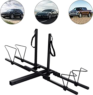 Super buy Upright Heavy Duty 2 Bike Bicycle Hitch Mount Carrier Platform Rack Truck SUV