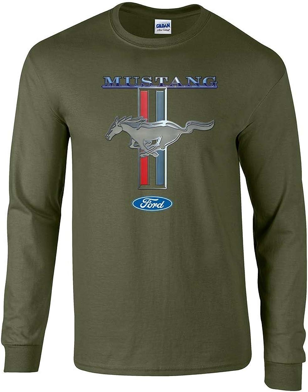 Ford Mustang Pony Stripes Motors Long 2021 new Car Truck Sle OFFicial Men's