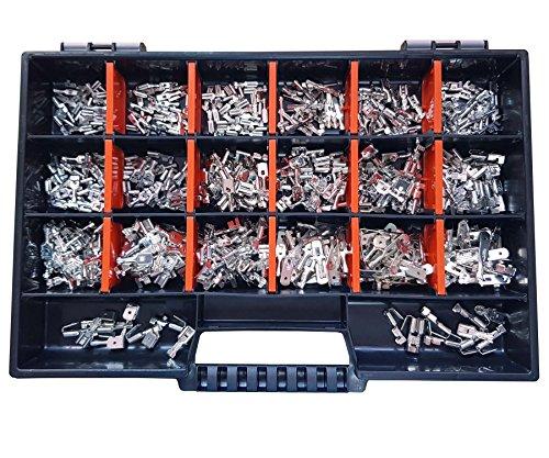 Set Flachsteckhülsen / Flachstecker 2,8x0,8 / 4,8x0,8 / 6,3x0,8 n. DIN 470 Teile
