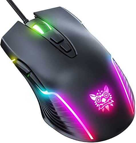2021 SegkopuoL Wired Gaming Mouse, 6-Speed DPI Adjustable(800-6400) with Colorful Backlight, wholesale Wired Mouse for 2021 Computer or Laptops (Black) sale