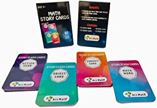 Arc Math Story Flashcards; Age 5 to 10 Years; Make Your own Stories; Pack of 60 Cards
