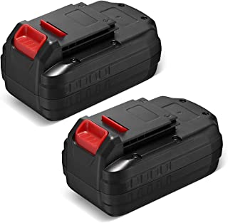 2 Pack 3700mAh Porter Cable 18V Replacement Battery Compatible with Porter Cable PC18B-2 18-Volt Cordless Tools Batteries