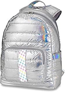 Top Trenz Iridescent Silver Puffer Backpack with Starstruck Strap