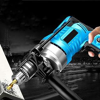 Batteriborr, 220 V högeffektslock pistolborr, borrdjup linjal, avtagbart tilläggshandtag