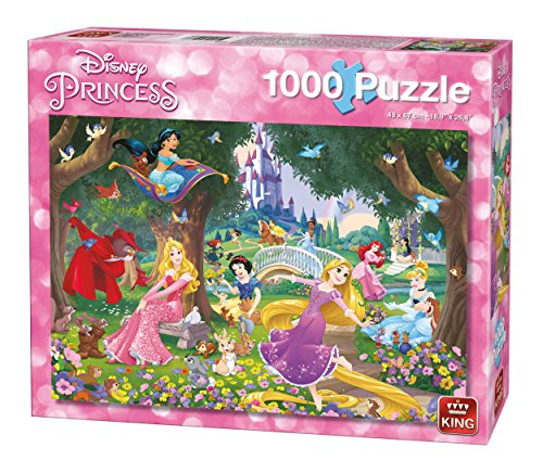 King 5278 A Beautiful Day Disney 1000 Teile Puzzle Wunderschöner Tag, Blau Karton