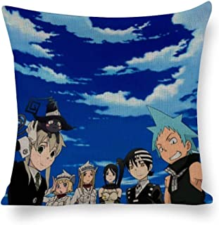 BSDHGSDH Decorated Cotton and Linen Throw Pillow Animation Soul Eater(30),Classic Animation,Adult Unisex Crew 5555cm