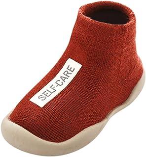 comprar comparacion YWLINK Calzado Casual Infantil Zapatos De Goma Antideslizantes Calcetines De Punto Zapatos De Casa OtoñO Nuevas Botas Desn...