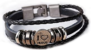 SEXY SPARKLES Womens and Men's Vintage Leather Wrap Wrist Band Rope Bracelet