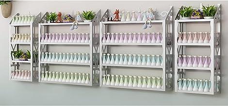Opbergrek Wandmontage Metalen Nagellak Vitrine Opbergdoos, 4 TierNagellak Muur Rack Organizer voor Thuis Salon Business Spa