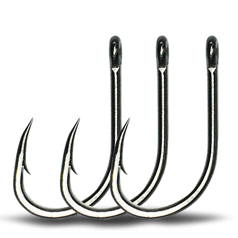 100Pcs//Set Fishing Hooks Jig Big Hook High Carbon Steel Outdoor Tool Bait I3I0