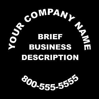 Wild Dingos LLC Business Rear Window/Store Window Custom Vinyl Decal Sticker White