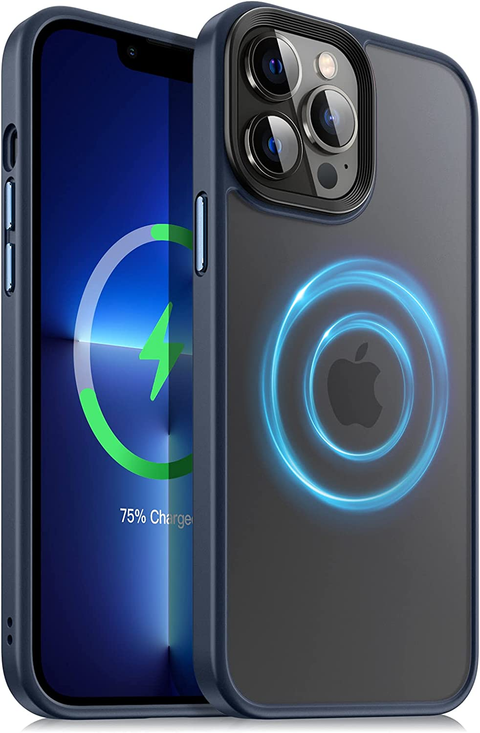 Dadanism Designed for iPhone 13 Pro Max Case, [Military Grade Drop Protection] Shockproof Translucent Slim Clear Case for iPhone 13 Pro Max 6.7 inch 2021, Indigo