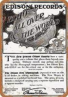 ヴィンテージの複製サイン、インチ、蓄音機レコード-ブリキの壁サインレトロな鉄の絵ヴィンテージメタルポスター警告プラークアート装飾バーカフェストアホームガレージ