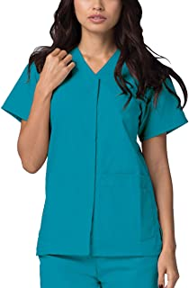 Adar Universal Scrubs for Women - Snap Front Scrub Top