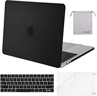 MOSISO MacBook Pro 13 inch Case 2019 2018 2017 2016 Release A2159 A1989 A1706 A1708,Plastic Hard Shell& Keyboard Cover& Screen Protector& Storage Bag Compatible Newly MacBook Pro 13,Black